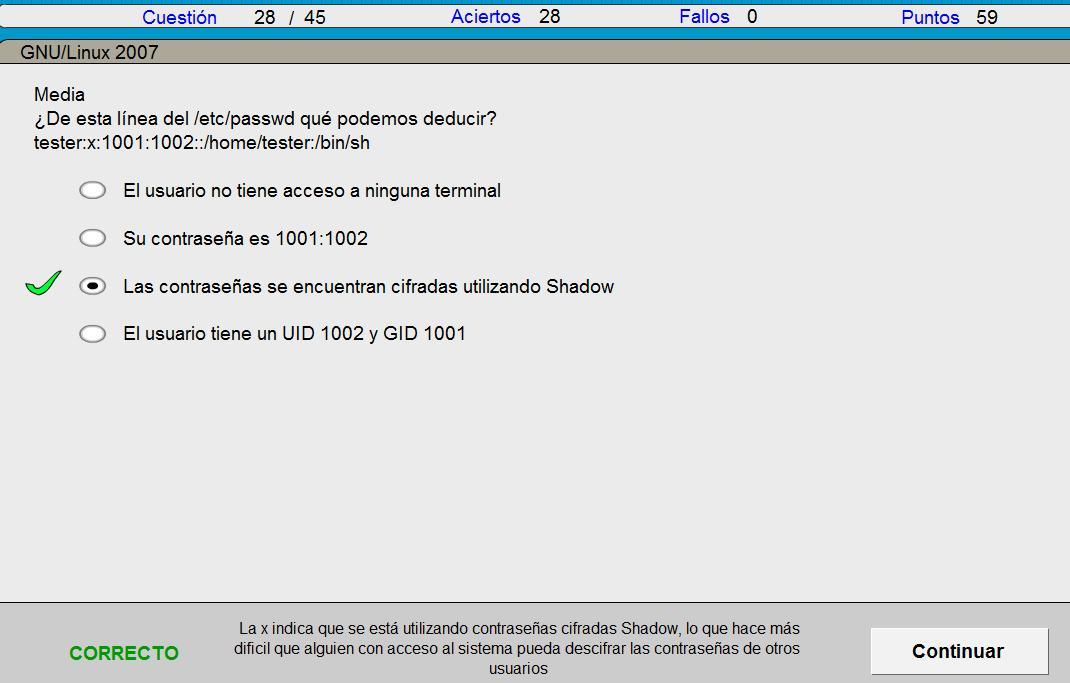 Test de GNULinux