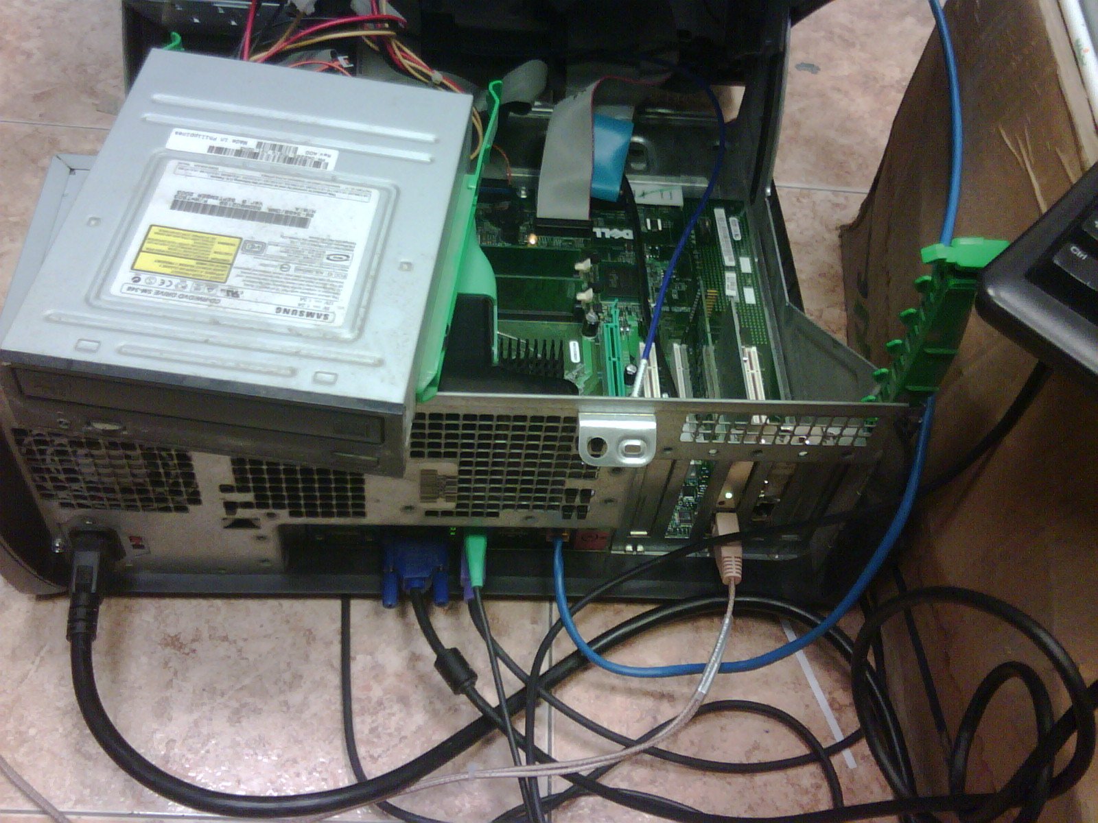 Computadora de prueba para recibir E1
