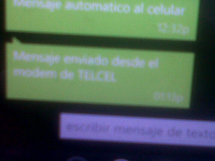 Enviar SMS telcel con Minicom